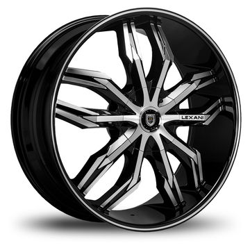 Lexani Arte Gloss Black and Machined Face Wheels