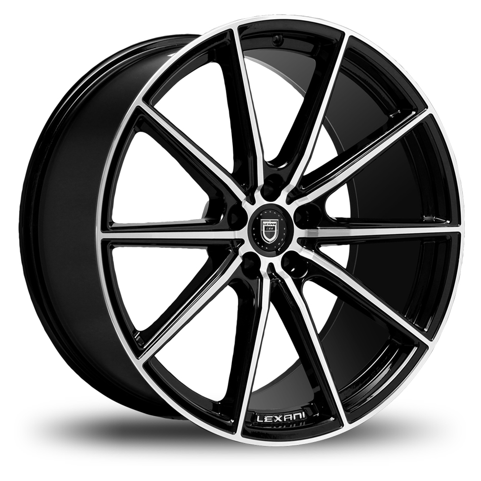 Lexani CSS-10 Gloss Black and Machined Face Wheels