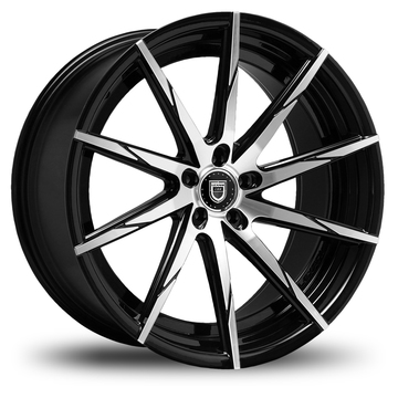 Lexani CSS-15 Gloss Black and Machined Face Wheels