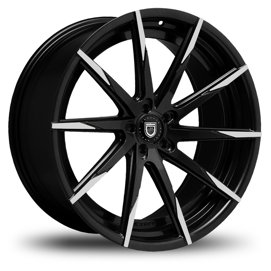 Lexani CSS-15 Gloss Black and Machined Tips Wheels