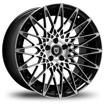 Lexani CSS-16 Gloss Black and Machined Face Wheels