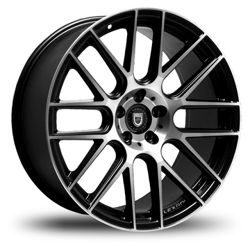 Lexani CSS-8 Gloss Black and Machined Face Wheels