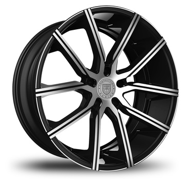 Lexani Gravity Machined and Black Face Finish Wheels