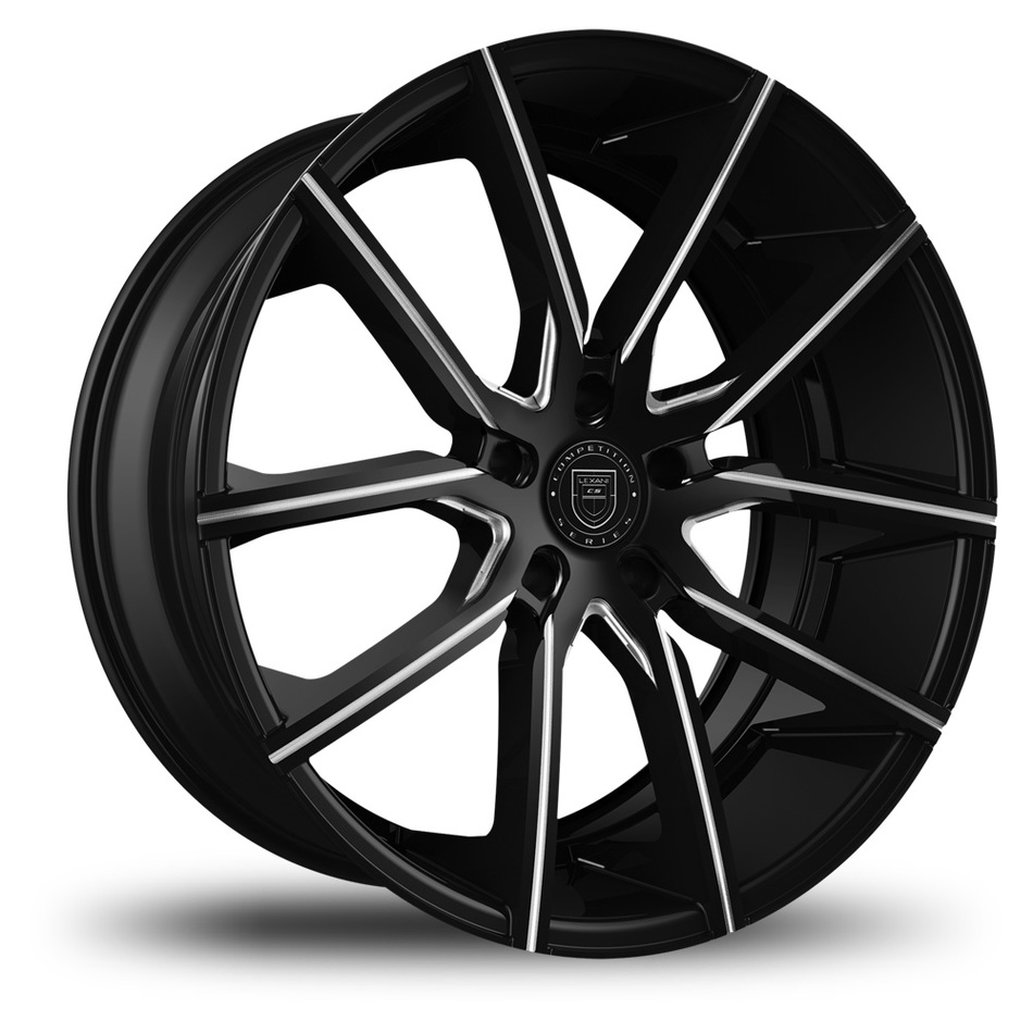Lexani Gravity Black with Milled Spokes Finish Wheels