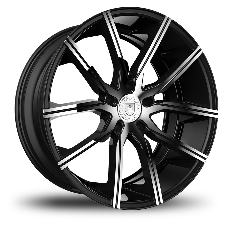 Lexani Gravity Black and Chrome Finish Wheels