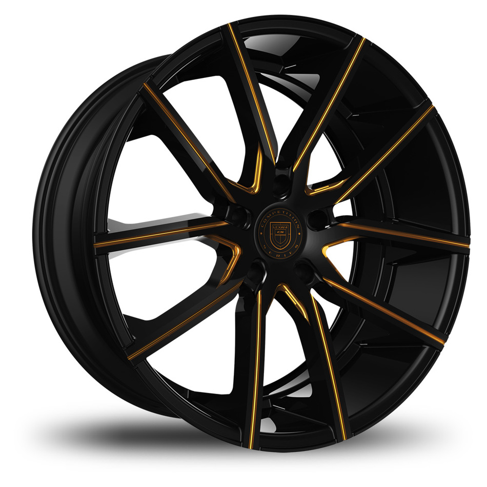 Lexani Gravity Black and Gold Finish Wheels