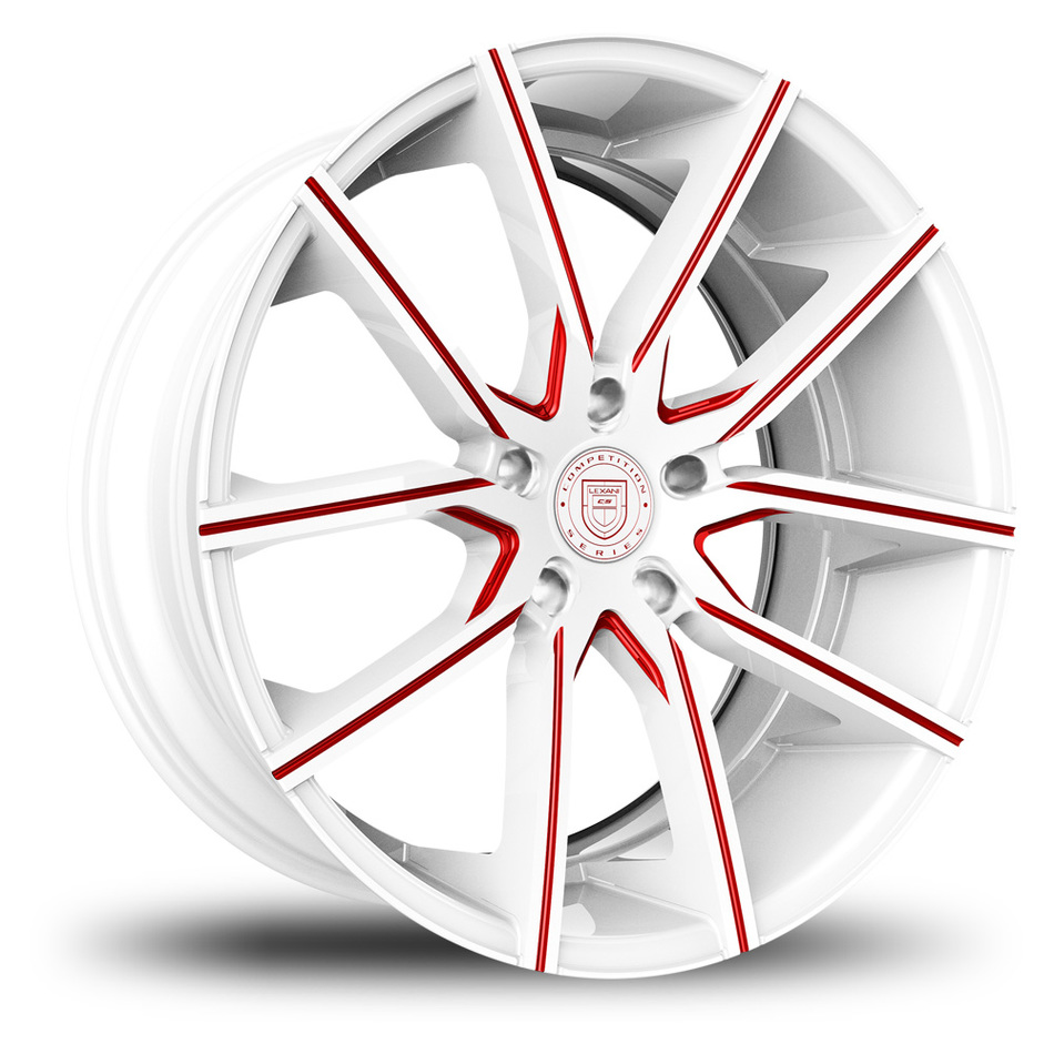 Lexani Gravity White and Red Finish Wheels