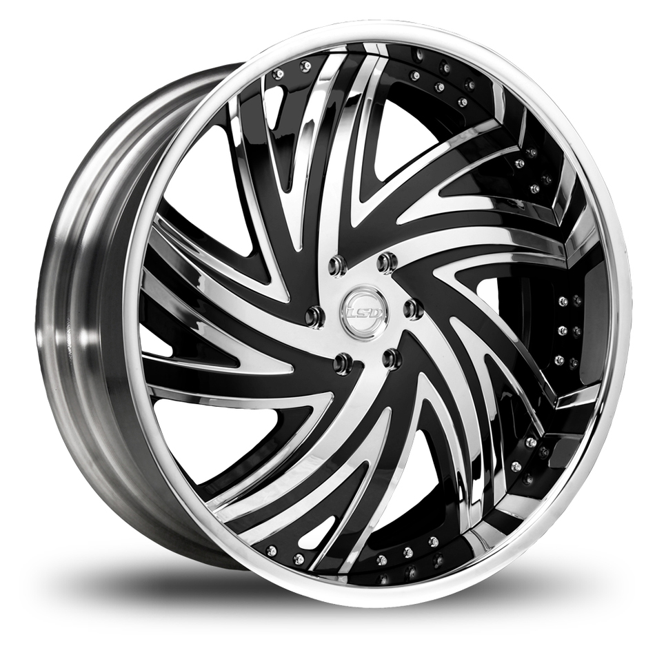 Lexani LSD-2 Chrome and Black Wheels
