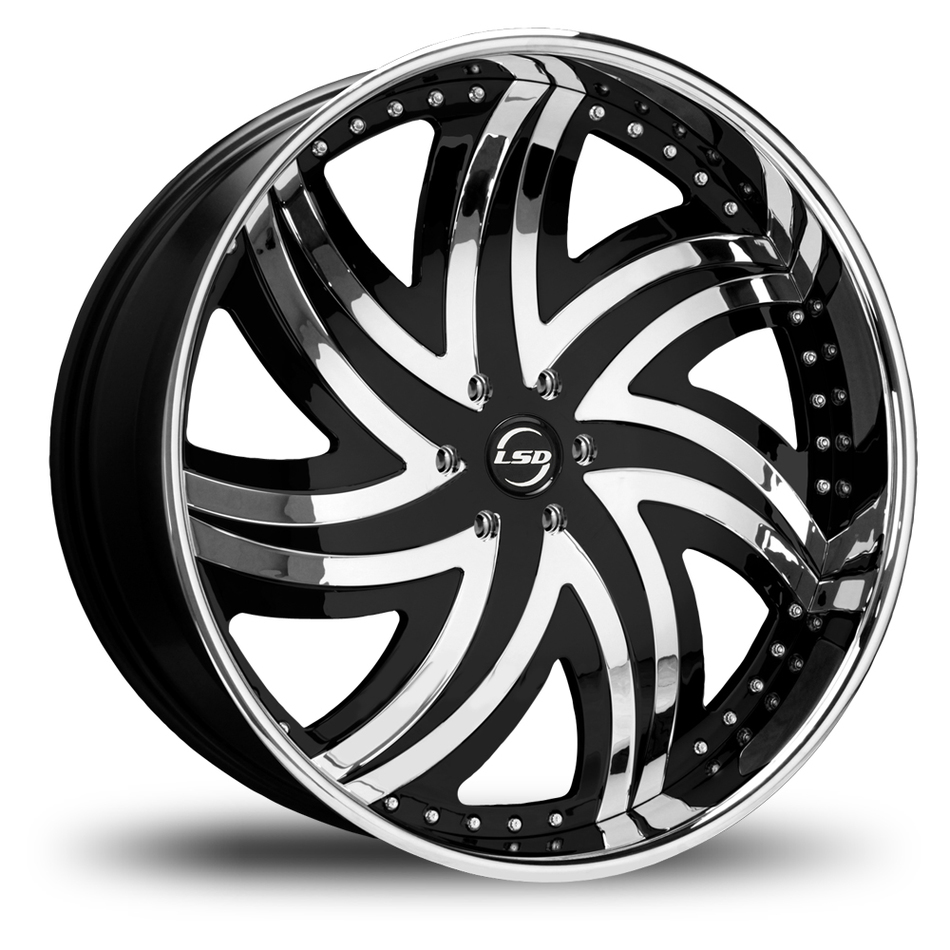 Lexani LSD-3 Chrome and Black Wheels
