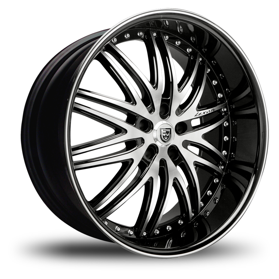 Lexani LX-10 Gloss Black and Machined Face with Wheels