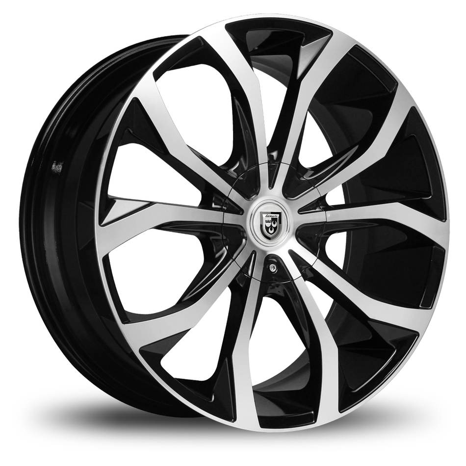 Lexani Lust No Lip Gloss Black and Machined Face with Pinstripe Wheels