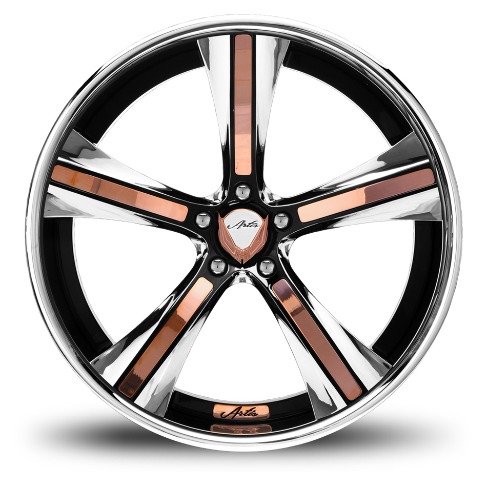 Lexani Nouveau Custom Painted with Copper Inserts Wheels
