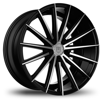 Lexani Pegasus Black and Machined Finish Wheels