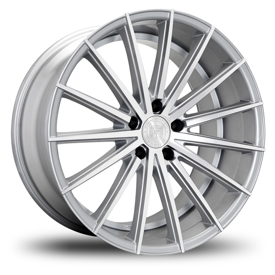 Lexani Pegasus Custom Silver and Machine Finish Wheels