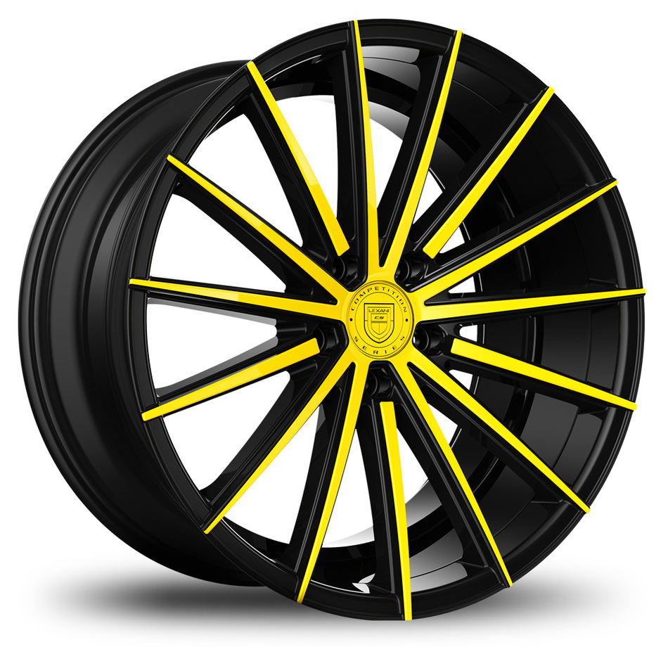 Lexani Pegasus Custom Black and Yellow Finish Wheels