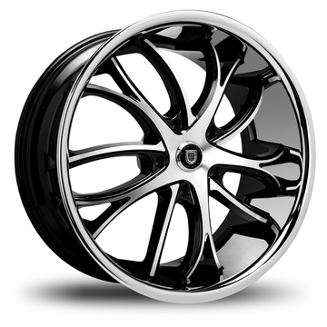 Lexani Polaris Gloss Black and Machined Face SS Lip Finish Wheels