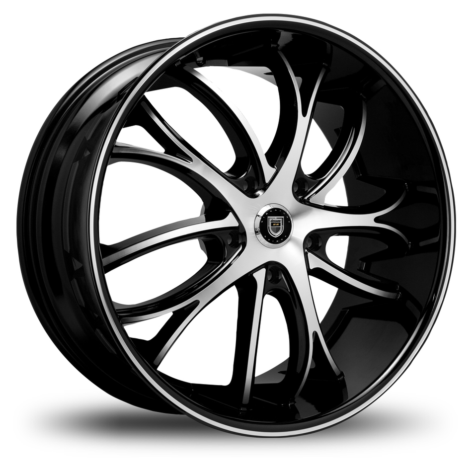 Lexani Polaris Gloss Black and Machined Face SS Groove Lip Finish Wheels