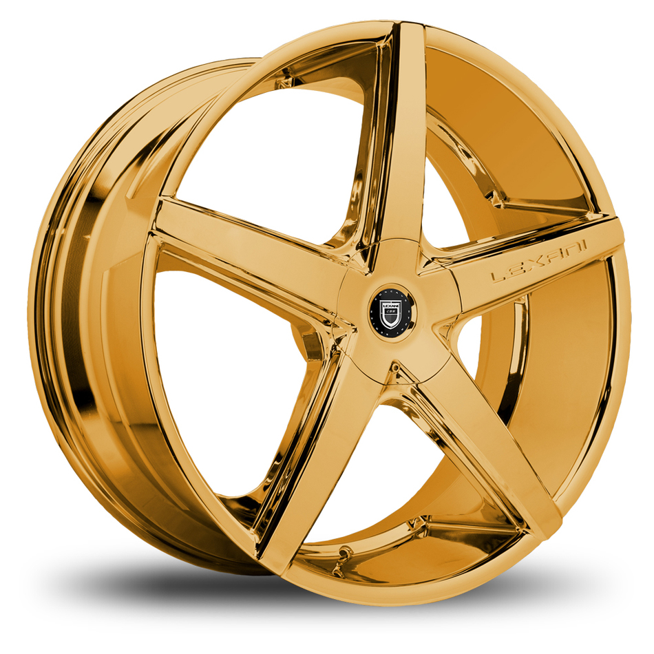 Lexani R-Four Gold Finish Exposed Lugs Wheels