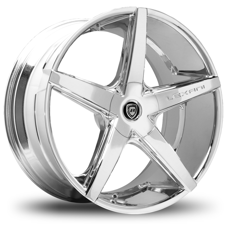 Lexani R-Four Chrome Finish Covered Lugs Wheels