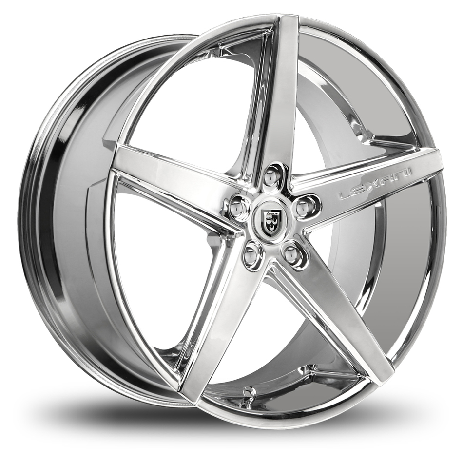 Lexani R-Four Chrome Finish Exposed Lugs Wheels