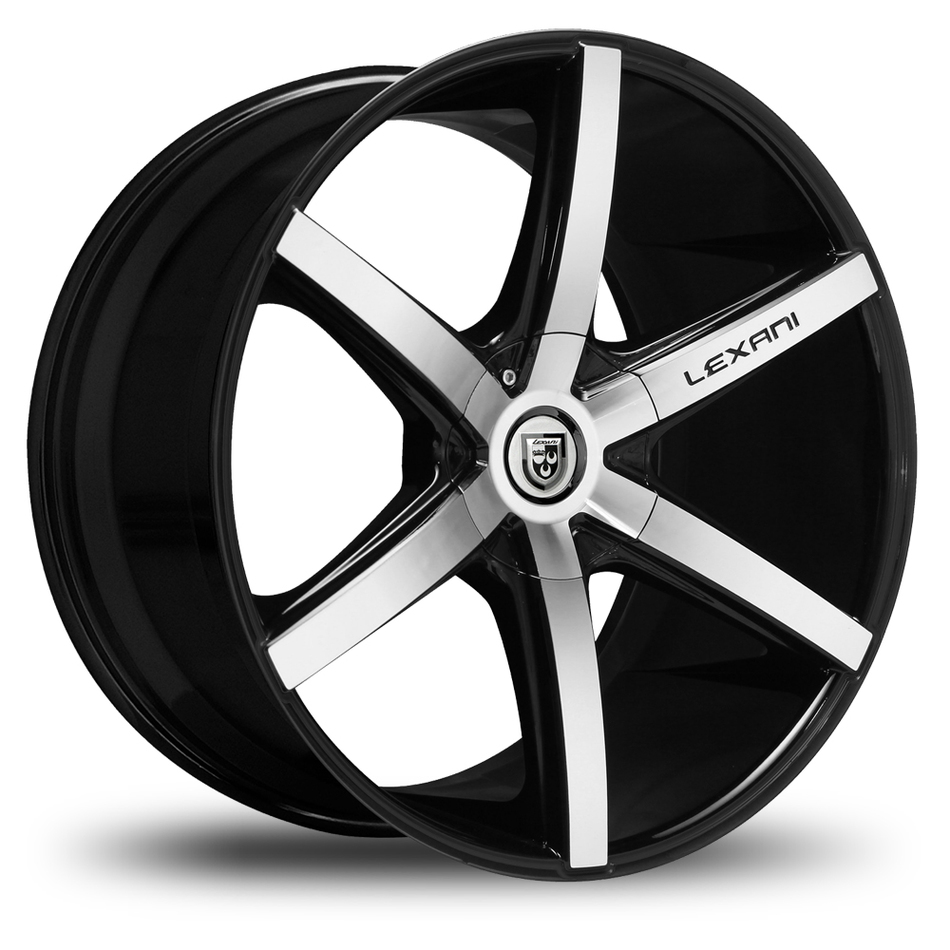 Lexani R-Six Gloss Black and Machined Wheels
