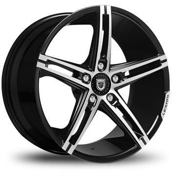 Lexani R-Three Gloss Black and Machined Face Wheels