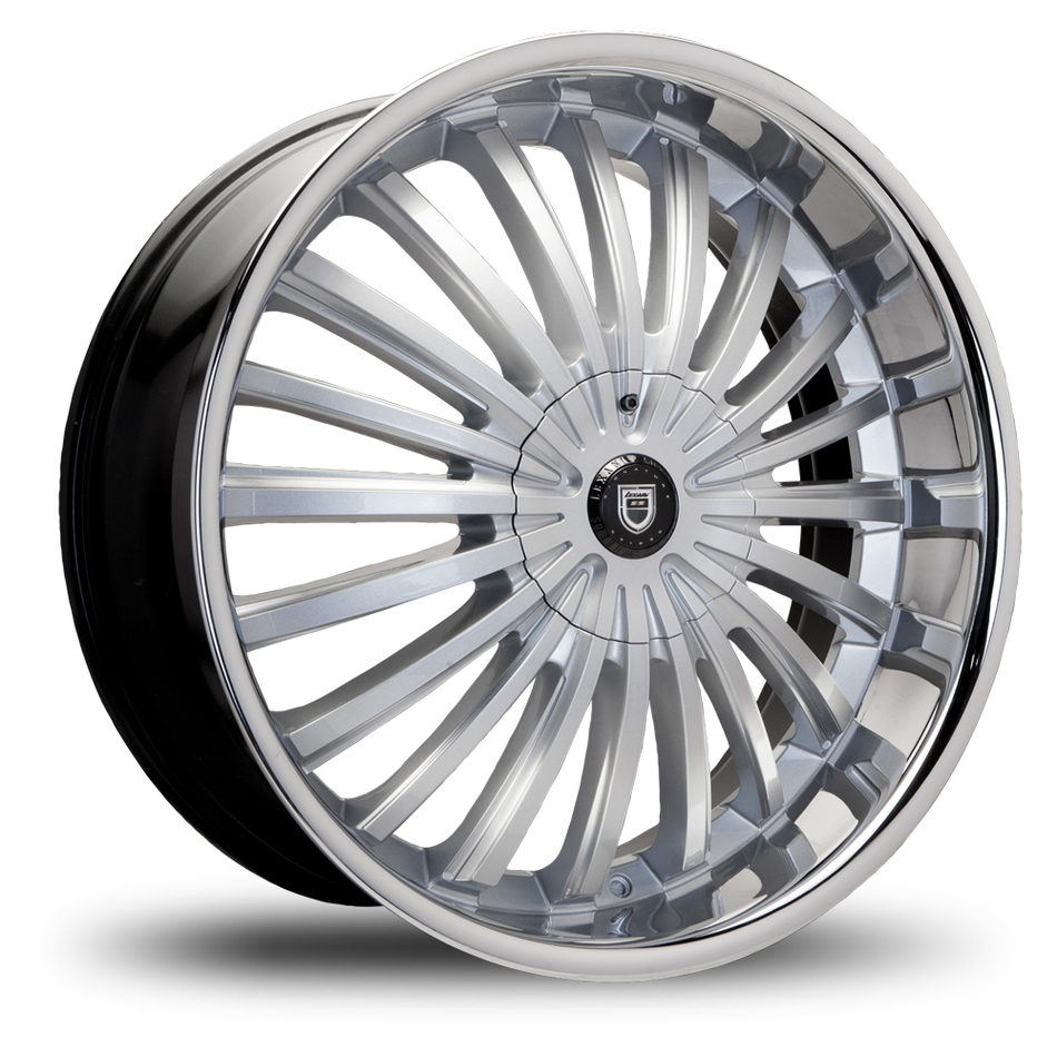 Lexani Royal Machined Face with Stainless Steel Lip Wheels
