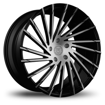 Lexani Wraith Black and Machined Face Finish Wheels