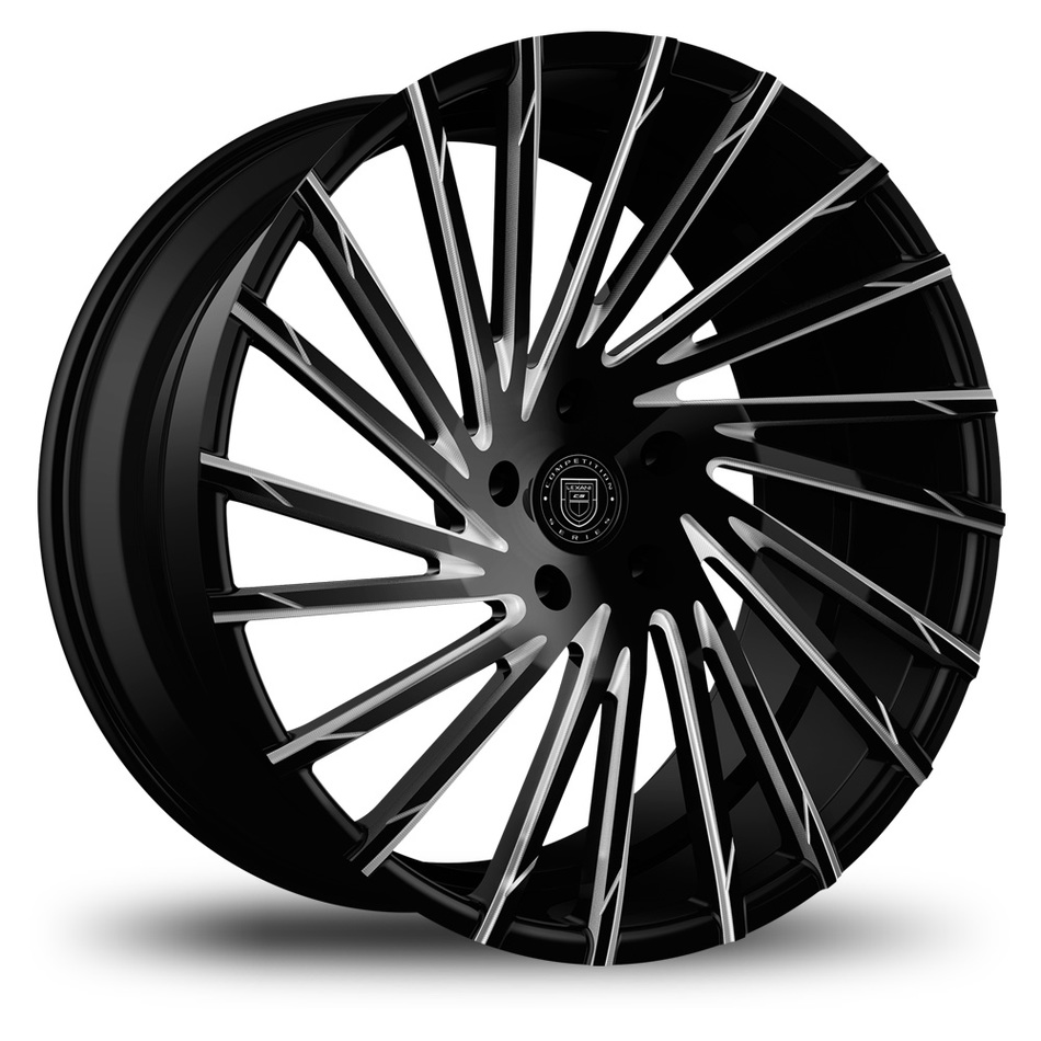 Lexani Wraith Black with Machined Accents Finish Wheels