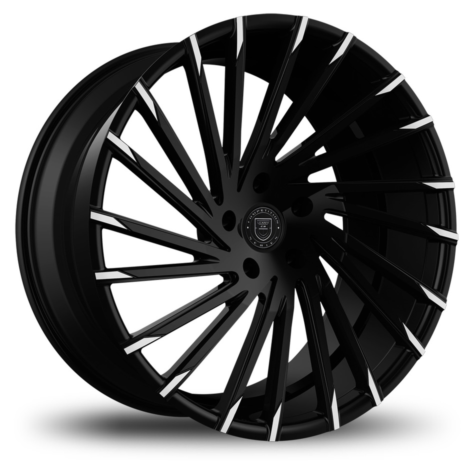 Lexani Wraith Black with Machined Tips Finish Wheels