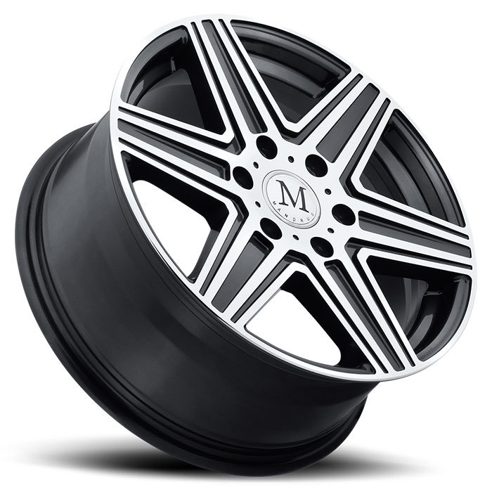 Mandrus Atlas 6 Wheels - Gunmetal with Mirror Cut Face Finish