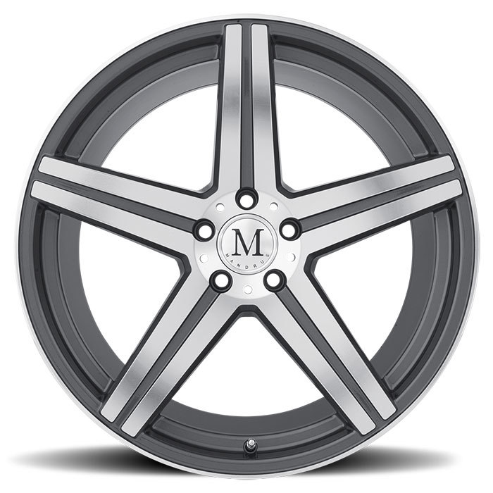 Mandrus Estrella Gunmetal with Machine Face Finish Mercedes Wheels
