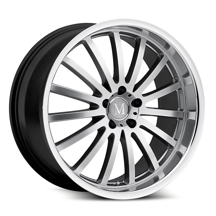 Mandrus Millenium Hyper Silver with Mirror Cut Lip Mercedes Wheels - Standard