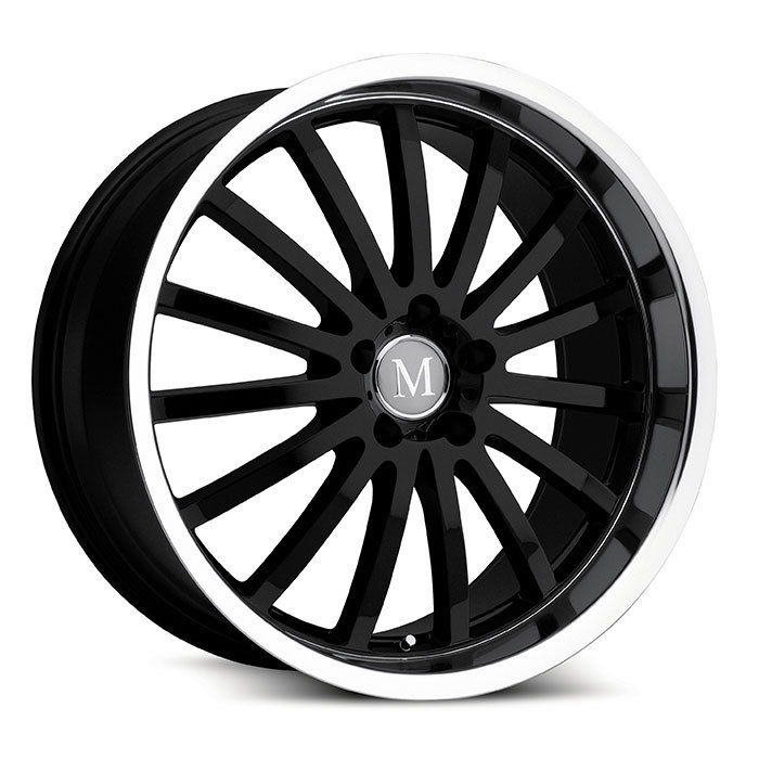 Mandrus Millenium Gloss Black with Mirror Cut Lip Mercedes Wheels - Standard