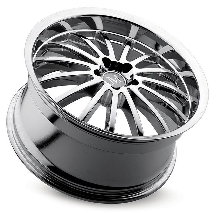 Mandrus Millenium Chrome Mercedes Wheels - Lay
