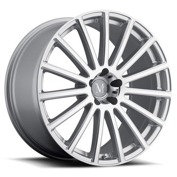 Mandrus Rotec Silver with Mirror Cut Face Mercedes Wheels - Standard