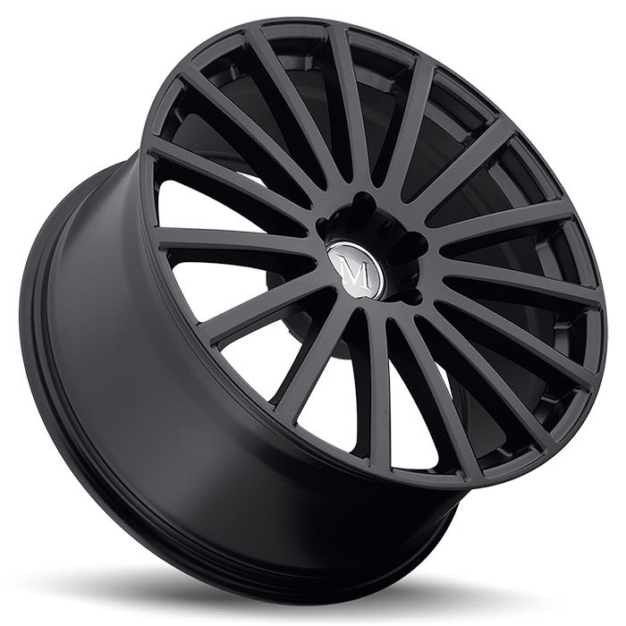 Mandrus Rotec Matte Black Mercedes Wheels - Lay