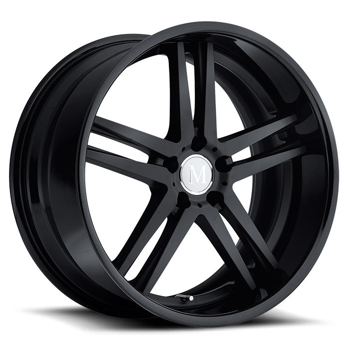 Mandrus Simplex Wheels - Matte Black with Gloss Black Lip Finish