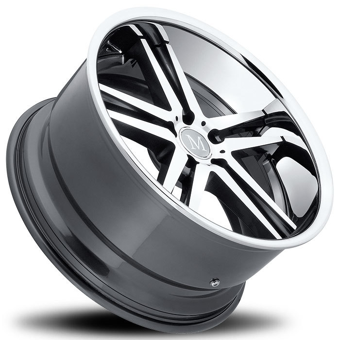 Mandrus Simplex Wheels - Gunmetal with Machine Face and Chrome Stainless Lip
