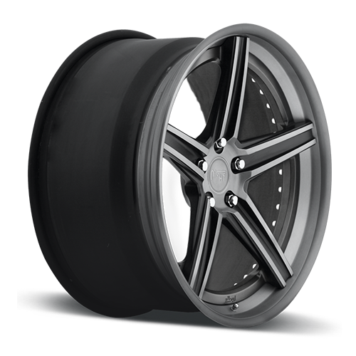 Niche Apex - H410 Black and Brushed Double Dark Tint Wheels