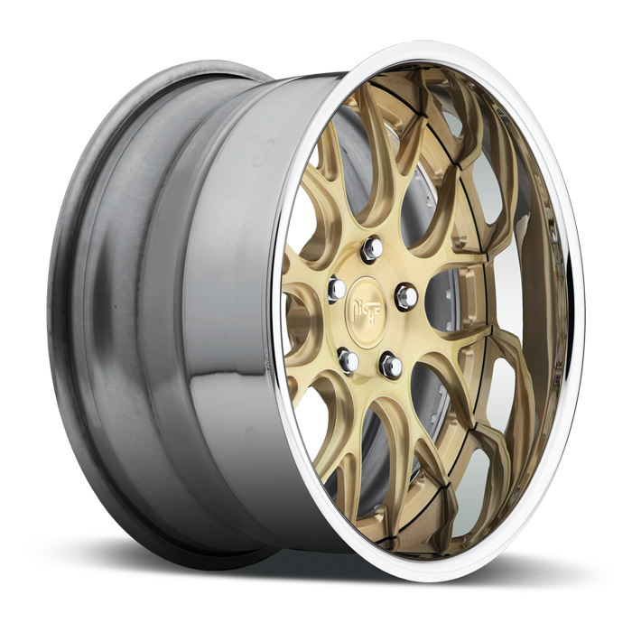 Niche Circuit - A300 Brushed Transparent Brass Wheels - 3 Piece Forged