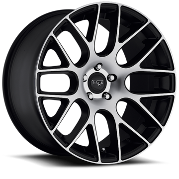 Niche Circuit - M108 Black Machined Wheels