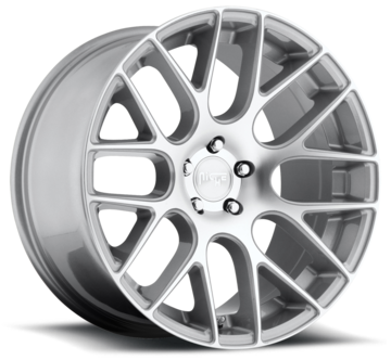 Niche Circuit - M109 Silver Machined Wheels