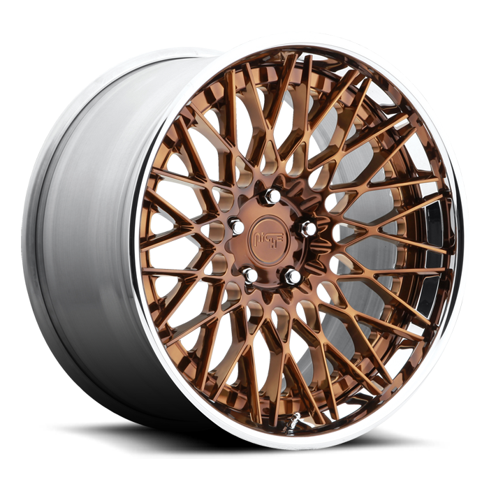 Niche Citrine - H79 Monaco Copper Tint and Chrome Lip Wheels - 3 Piece Forged