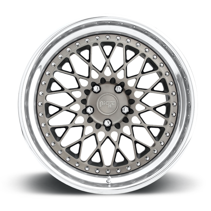 Niche Citrine - H79 Double Dark Tint and Polished Lip Wheels - 3 Piece Forged