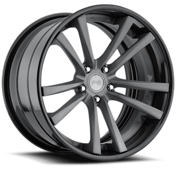 Niche Concourse - A320 Brushed Double Dark Tint and Black Wheels - 3 Piece Forged