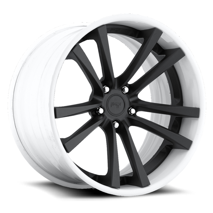 Niche Concourse - A320 Black and White Wheels - 3 Piece Forged