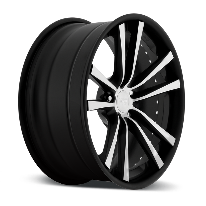 Niche Concourse - A320 Black and Machined Wheels - 3 Piece Forged