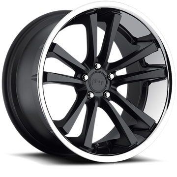 Niche Concourse - M885 Matte Black Face Chrome Stainless Lip Wheels
