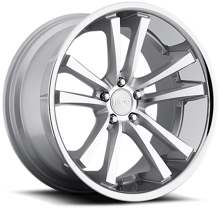 Niche Concourse - M885 Silver Machined Face Chrome Stainless Lip Wheels